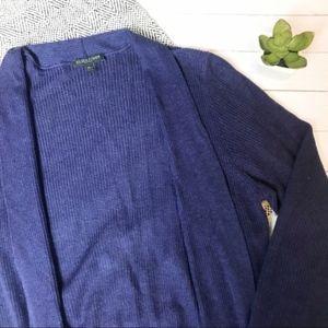 Eileen Fisher Navy Open Long Cardigan